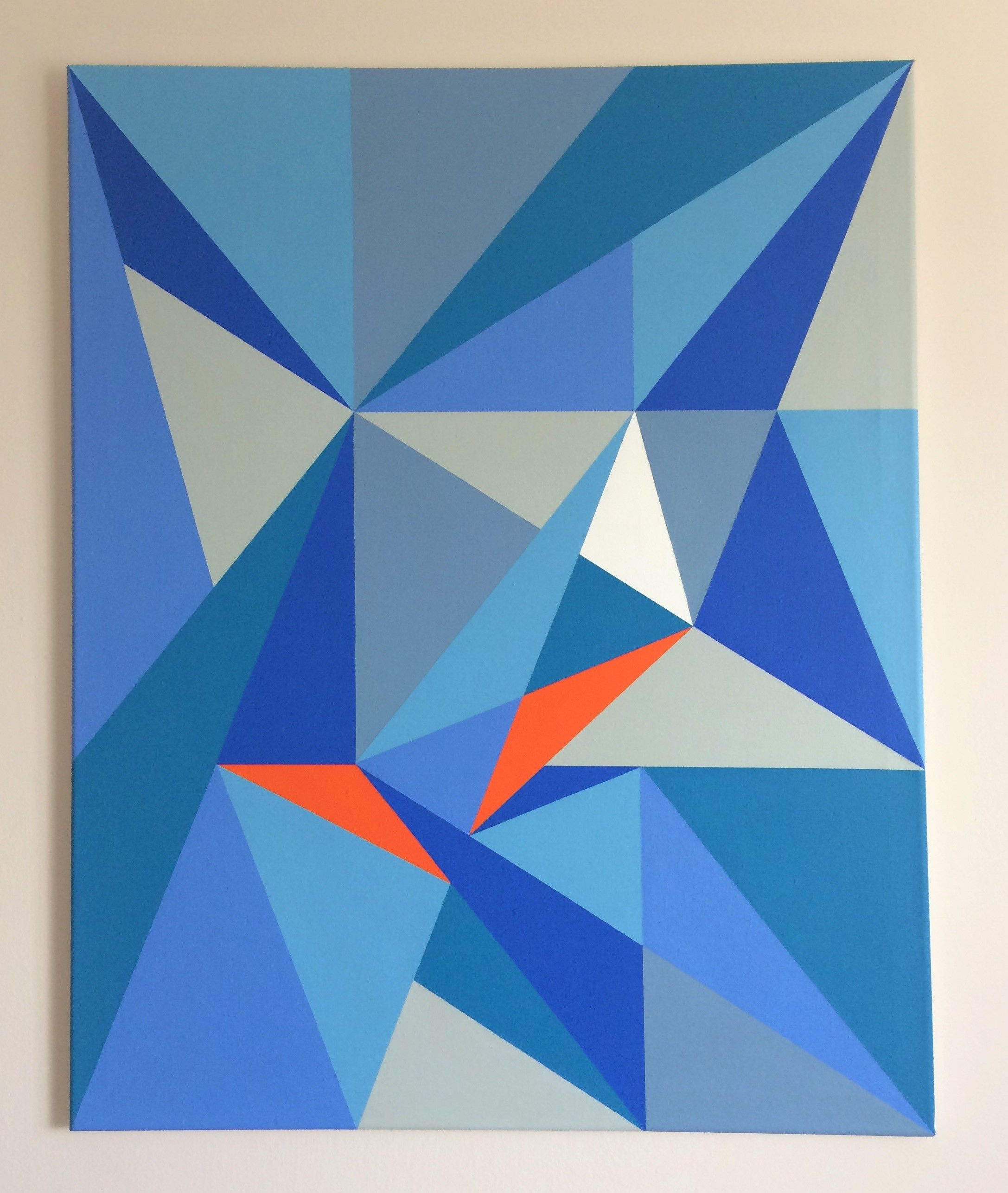 'Triangle Composition 1' (2020) Acrylic on Canvas (76 x 61 cm)